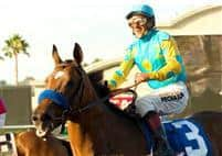 Point Ashley after winning the G1 Del Mar Debutante Stakes