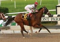 10 10 2009: Homeboykris with Edgar Prado wins the Grade I Champagne Stakes for 2-year old colts going 1 mile at Belmont Park, Elmont, NY. Trained by Rick Dutrow.