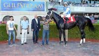 I Am Now in the Winners Circle after her Maiden Special Weight win at Gulfstream Park.