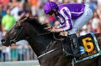 Adelaide wins the Secretariat stakes at Arlington Park, jockey Ryan Moore, trainer Aidan O'Brien, for owner Coolmore