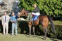 Papa Clem and trainer Gary Stute in the winner's circle of the 2009 Arkansas Derby
