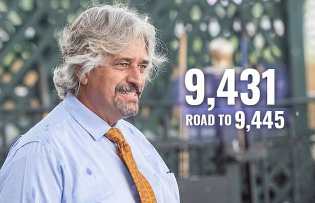 Asmussen moves within 14 of record; starts 2 on Monday