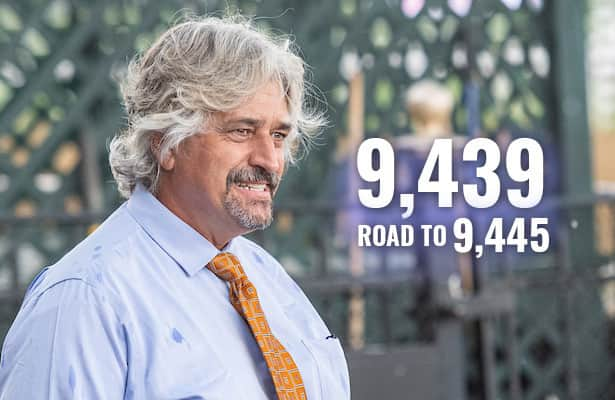Asmussen starts 9 Saturday, now 6 wins from record