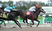 Brethren wins career debut at Belmont (10-16-10).