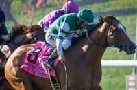 August 8 2015: Elektrum (IRE) with Victor Espinoza up wins the Grade II John C. Mabee Stakes at Del Mar Race Course in Del Mar CA. Zoe Metz/ESW/CSM