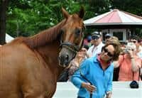 Funny Cide and Robin Smullen at Saratoga (8-8-10)