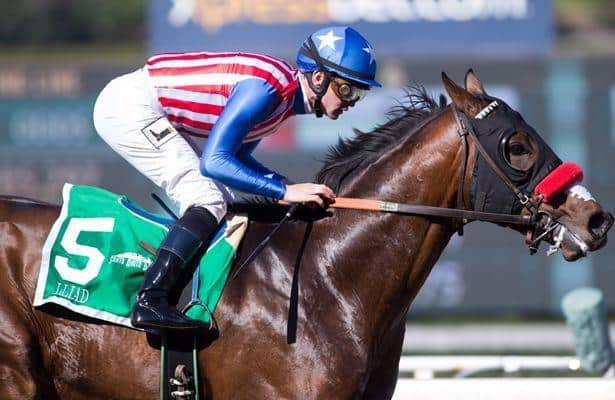 San Vicente winner Iliad breezes for Santa Anita Derby