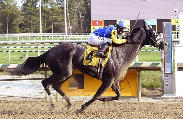 New York shipper Justoneofakind wins Friday feature at Laurel