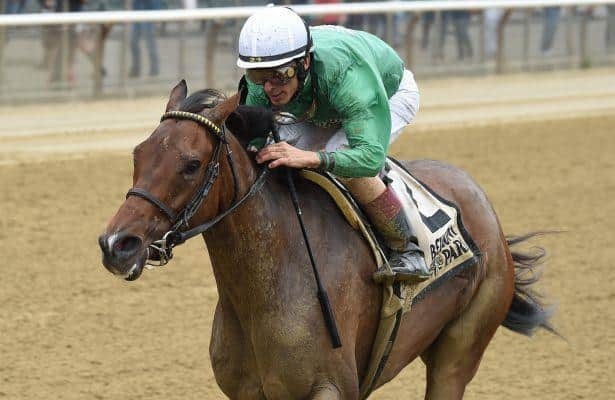 Kirby's Penny rallies to win Belmont's Vagrancy in stakes debut