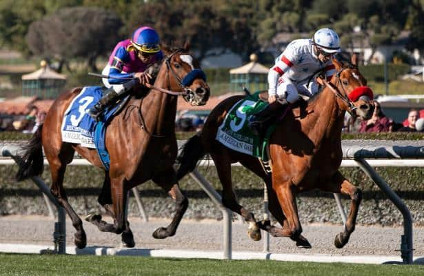 Lady Prancealot edges out Mucho Unusual in American Oaks thriller