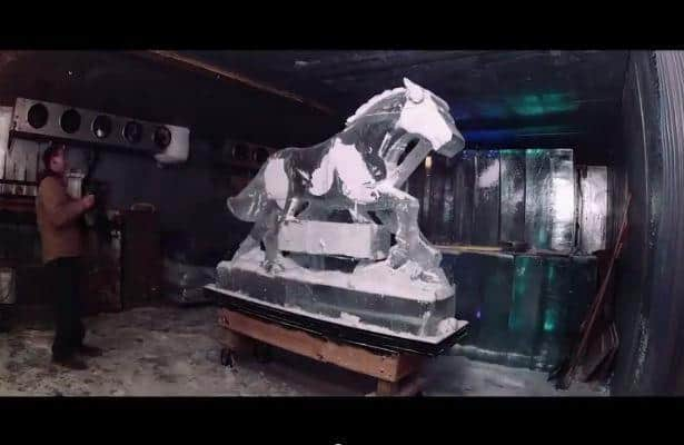 Video: The Making of Laurel's Winter Carnival Ice Sculptures