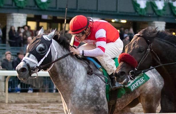 Leofric wins, Hofburg spins his wheels in Keeneland's Fayette Stakes