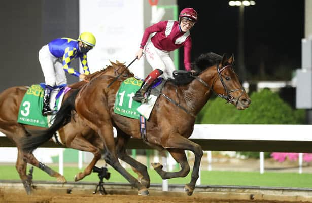 Mishriff, Charlatan run thrilling one-two in $20 million Saudi Cup