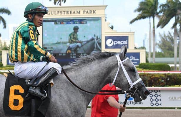 Lopez closing in on Gulfstream Park West riding title
