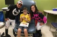 Perez, Murray visit Riley Hospital for Children in support of Childhood Cancer Awareness Month at Indiana Grand Racing & Casino