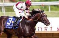 July 20, 2013. Royal Delta, ridden by Mike Smith and trained by Bill Mott, wins the gr I Delaware Handicap at Delaware Park, Stanton, DE. ©Joan Fairman Kanes/Eclipse Sportswire
