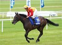 Snow Fairy with jockey Ryan Moore wins the Darley Irish Oaks at Curragh Racecourse.