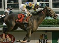 Street Sense captures the 2007 Kentucky Derby with Calvin Borel aboard
