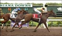 Strong Contender surges past Lawyer Ron to win the 2006 Super Derby