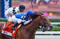 August 23, 2014: The Big Beast (7), ridden by Javier Castellano, comes from behind to win the King's Bishop Stakes on Travers Stakes Day at Saratoga Race Course in Saratoga Springs, New York. Scott Serio/ESW/CSM