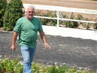 September 15, 2009: Tony Richey in Louisiana Downs paddock.