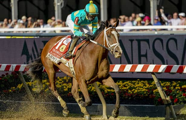 Army Wife rides rail before winning move in Black-Eyed Susan