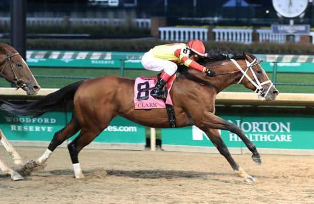 Bodexpress holds off Code of Honor to win G1 Clark at 11-1