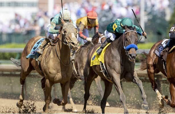 Flagstaff emerges from pack late to win G1 Churchill Downs