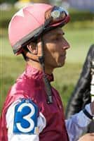 Rajiv Maragh in the paddock at Oaklawn before riding Seventh Street to victory in the 2009 Apple Blossom