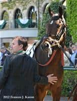 Trainer Peter Eurton and Eurton's trainee She's Cheeky