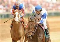 Warrior's Reward captures an allowance race on Oaks Day